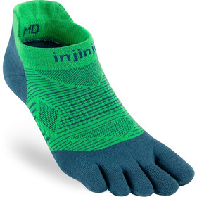 Injinji Run Lightweight No Show Calze, blu/verde